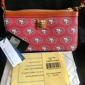 Dooney & Bourke San Francisco 49ERS Logo Wristlet